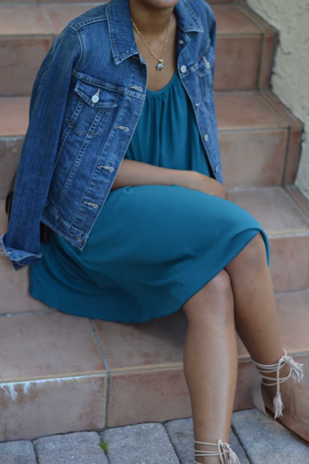 summer_tealdressdenimjacket